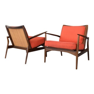 1960s Danish Modern Kofod Larsen for Selig Spear Chairs - a Pair For Sale