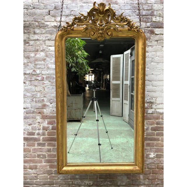 Wood French Louis Philippe Mirror , 19th Century For Sale - Image 7 of 9