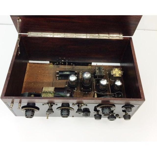 1920s 4 Tube Regen Wood Case Radio & C. Brandes Headphones - Image 7 of 10
