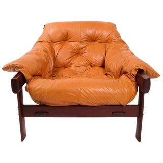 Percival Lafer Brazilian Jacaranda & Leather Chair