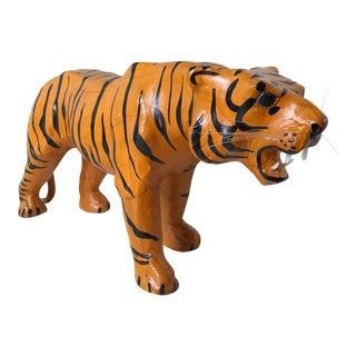 Leather Tiger Figure
