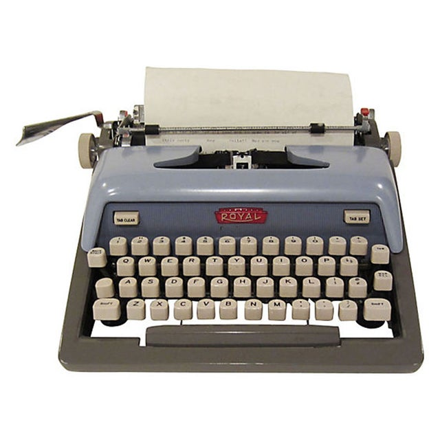 Mid-Century Blue Royal Futura 800 Typewriter - Image 1 of 7