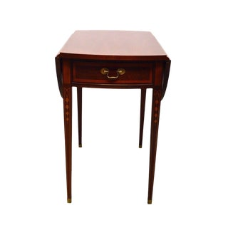 Hickory American Masterpiece Collection Mahogany Inlaid & Painted Pembroke Table