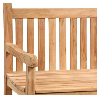Outdoor Slatted Teak Bench Preview