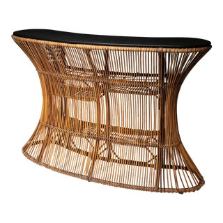 Wicker Dry Bar by Tito Agnoli for Pierantonio Bonacina