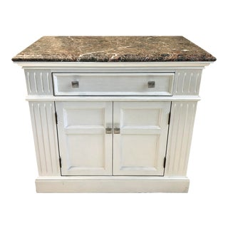 Transitional Century Furniture Marble Top Bachelor's Chest For Sale