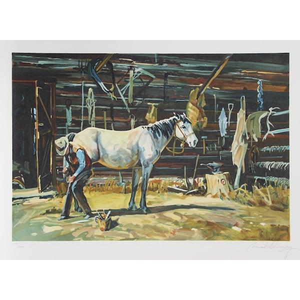 "Conrad Schwiering, ""Shoe Shop,"" Lithograph For Sale"