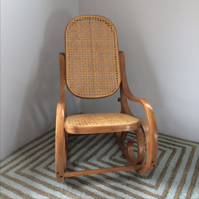 Vintage Bentwood & Cane Child's Rocking Chair - Image 3 of 10