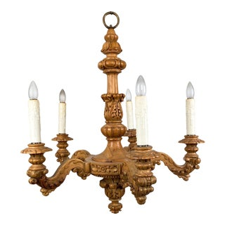 George II Style Baroque Chandelier, England Circa 1870 For Sale