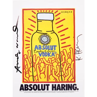 Absolut Haring, Absolut Vodka X Keith Haring X Andy Warhol Wall Art Print For Sale