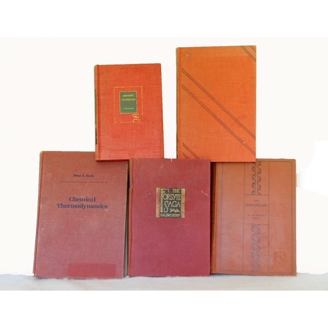 Vintage Red Decorative Book Set of 11 - Image 3 of 3