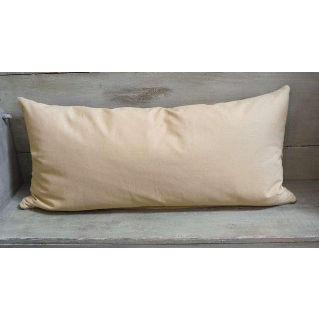 Large Navajo Indian Weaving Bolster Pillow For Sale - Image 4 of 4