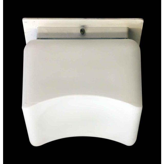 Lumenform Lumenform White Opaline Semi-Flush Light For Sale - Image 4 of 8