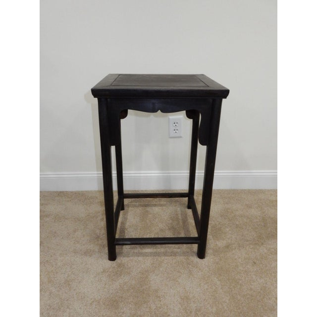 Antique Chinese Zitan Wood Side Table - Image 10 of 11