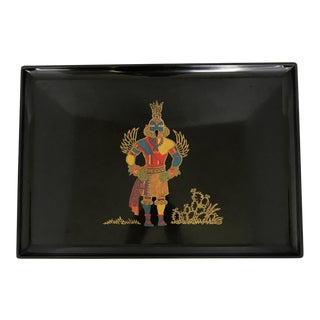 Vintage Couroc Kachina Indian Serving Tray For Sale