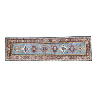 Hand-Knotted Tribal Design Runner- 2′8″ × 9′8″ For Sale