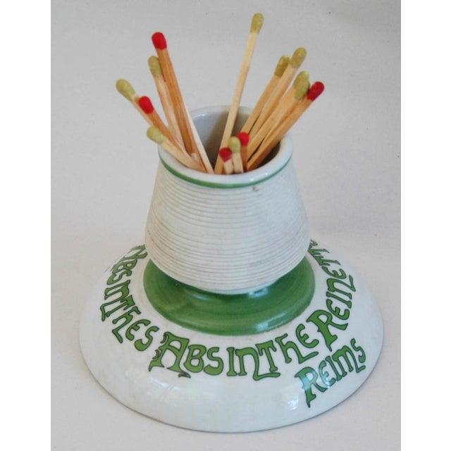 Parisian Cafe French Absinthe Porcelain Match Striker - Image 9 of 10