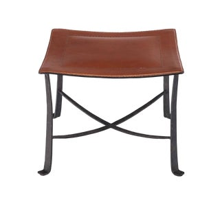 Selamat Designs Klismos Black Finish Wrought Iron Stool