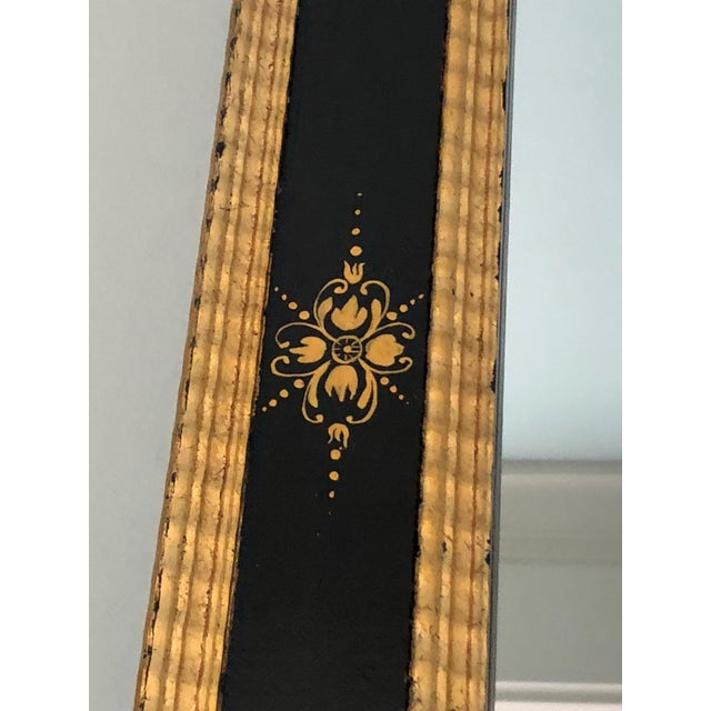 1920s Magnificent Large Black and Gold Regency Style Mirror For Sale - Image 5 of 10
