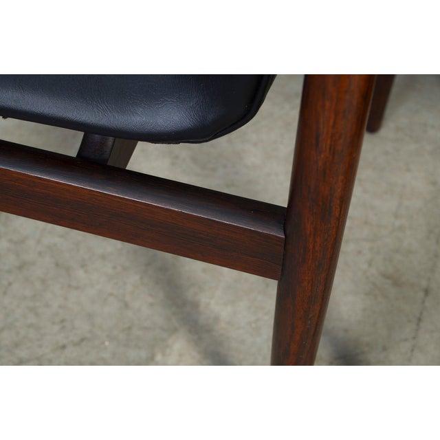1960s Vintage Klingenberg for Fristho Danish Modern Rosewood Dining Chairs- Set of 4 For Sale - Image 9 of 10