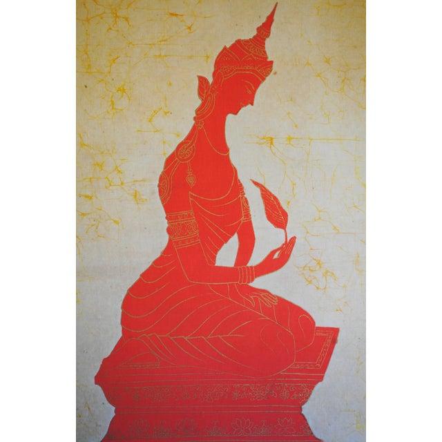 Boho Chic Vintage Batik Art For Sale - Image 3 of 6