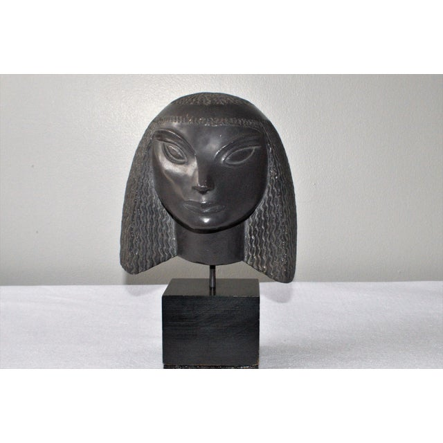 Vintage Fred Press Eygptian Female Sculpture - Image 2 of 10
