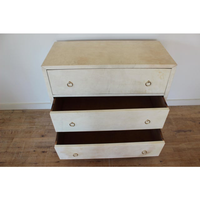 20th Century Modern Parchment Dresser For Sale In New York - Image 6 of 11