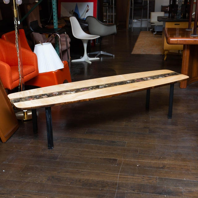 Custom Made Surfboard Coffee Table For Sale - Image 11 of 11