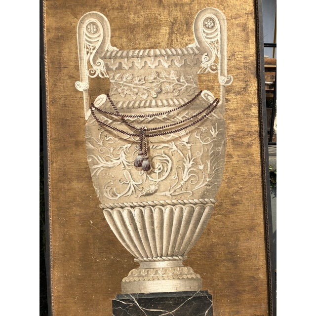 1990s Large Jacques Lamy Urn Painting For Sale - Image 5 of 13