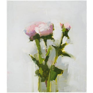"""Stanley Bielen """"Behold"""" Small Flower Still Life Painting For Sale"""