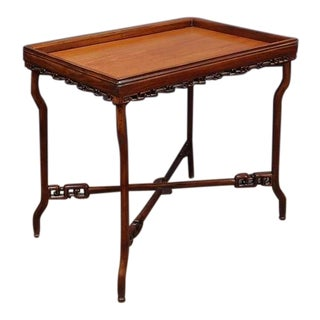 A Chinese Export Hardwood Folding Tray Table For Sale