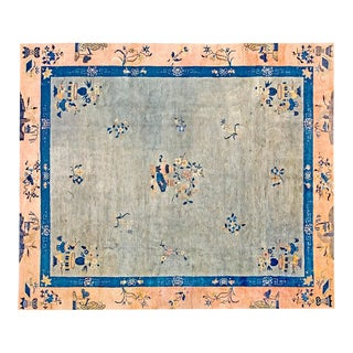 "1920s Vintage Chinese Art Deco Rug 8'2""x9'7"" For Sale"