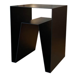 Contemporary Sheet Metal Accent Table For Sale