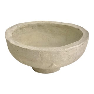 1960s Rustic Hand-Crafted Papier-Mache Bowl For Sale
