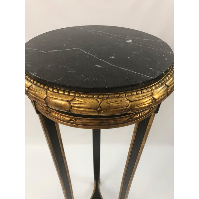 1990s Regency Style Custom Black and Gold Stand For Sale - Image 5 of 10