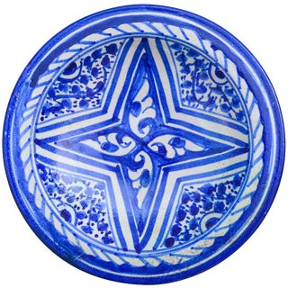 Blue Moroccan Wall Plate For Sale