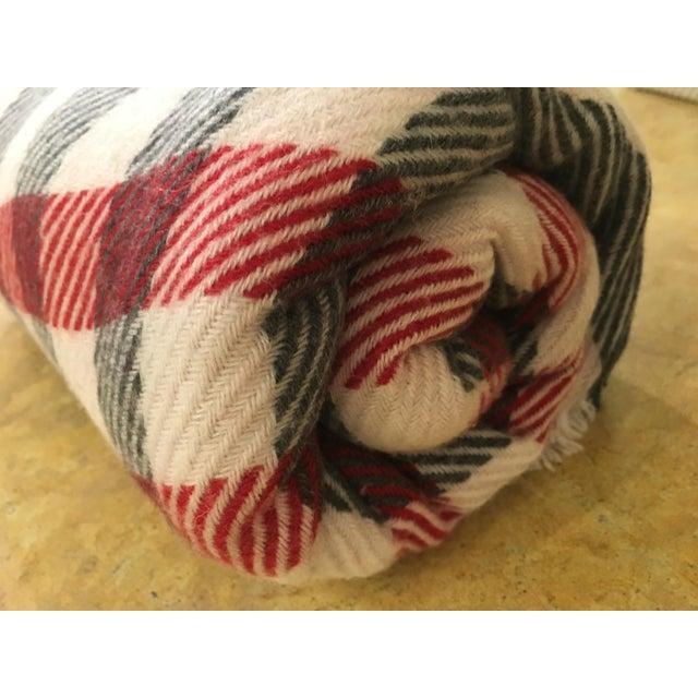 Black & Red Plaid Cashmere Blanket - Image 6 of 8