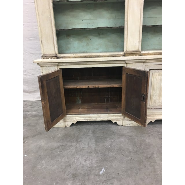 19th Century Italian Tuscan Painted Bookcase Display Cabinet For Sale - Image 10 of 13