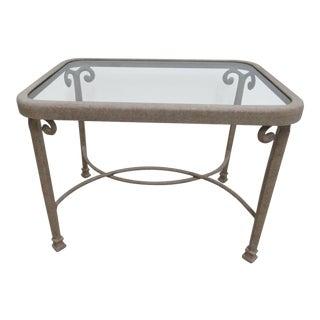 """Woodard """" Landgrave """" Patio Porch Side End Table For Sale"""