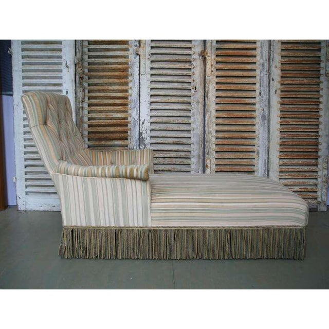 French 19th C. Napoleon III Chaise Lounge in Striped Fabric - Image 5 of 11