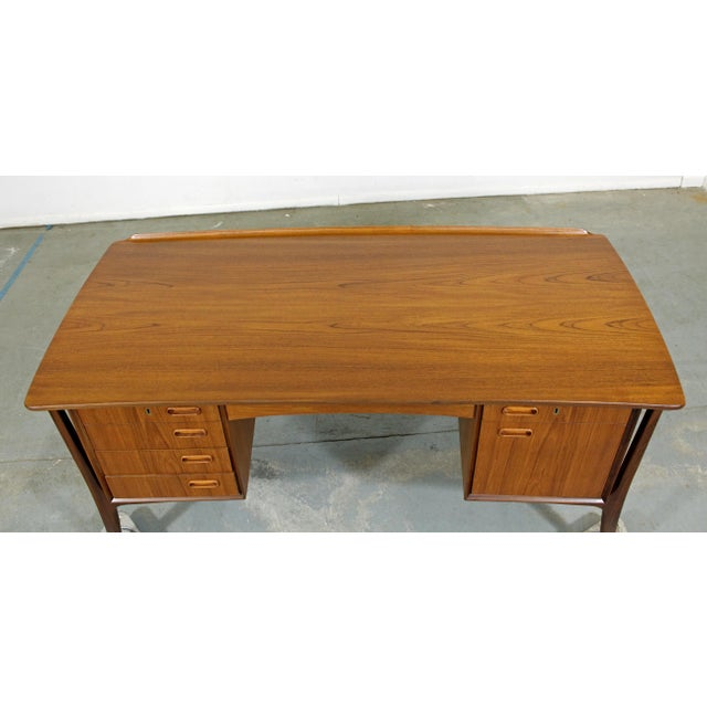Mid-Century Danish Modern Svend Aage Madsen Teak Desk For Sale In Philadelphia - Image 6 of 12