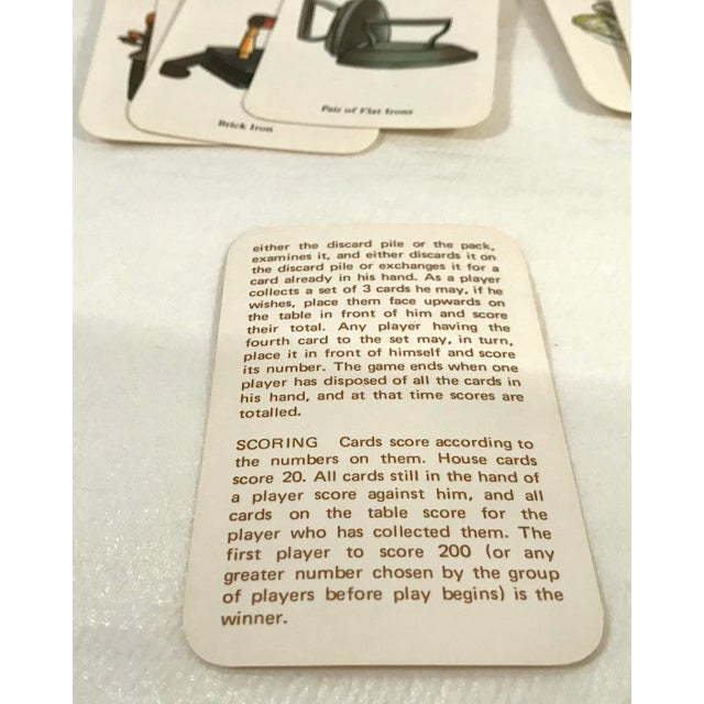 Vintage Mid-Century English Antiques Card Game For Sale - Image 9 of 10