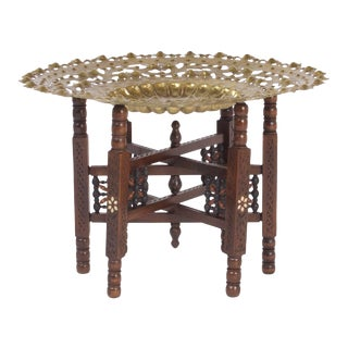 Moroccan Tray or Coffee Table For Sale