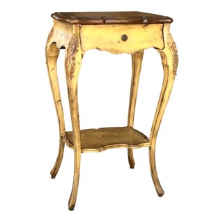 Maitland-Smith Carved Wooden End Table
