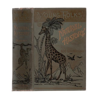 """1895 """"Young Folks' Cyclopedia of Natural History"""" Collectible Book For Sale"""