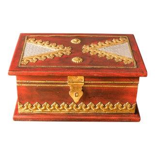 Odetta Medium Red Jewelry Box For Sale