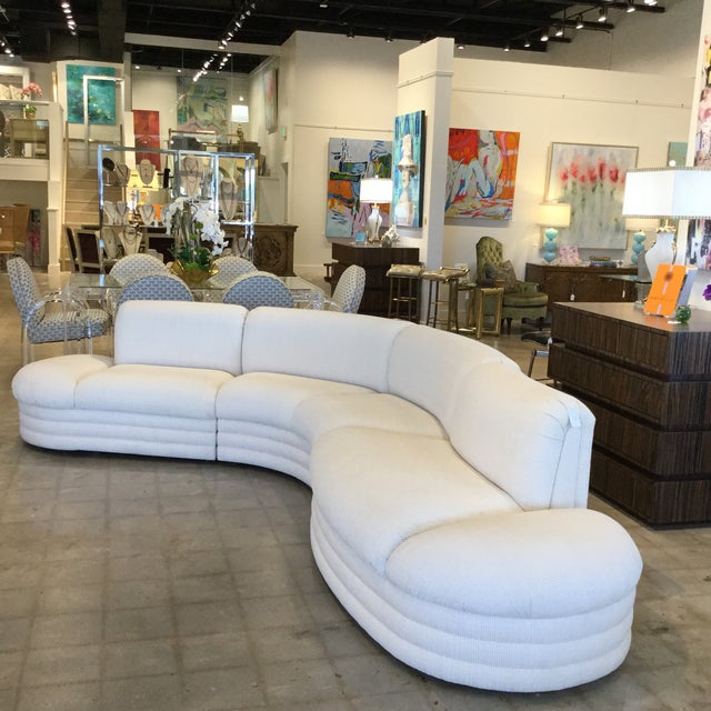 Curves in all the right places! This Kagan-esque sectional is long on style and comfort. Great mid century vibe that will...