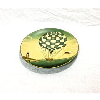 Old World Hot Air Balloon Pottery Plate Preview