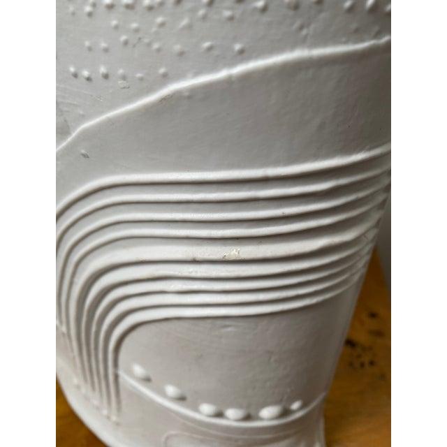 White Swedish Porcelain Rorstrand Vase by Bertil Vallien For Sale - Image 8 of 13
