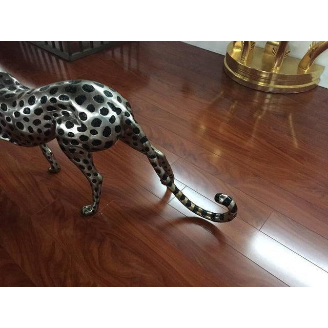 Cheetah Metal Sculpture For Sale In New York - Image 6 of 9